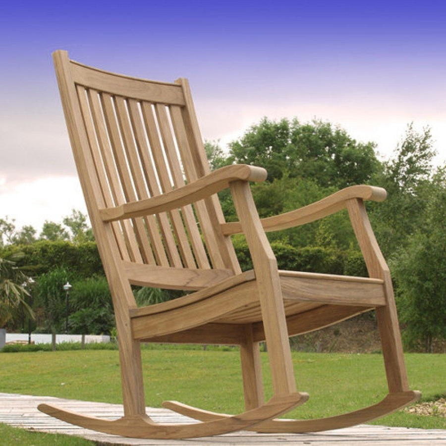 Xl Rocking Chairs With Regard To Newest Barlow Tyrie Newport Teak Outdoor Rocking Chair (View 12 of 20)