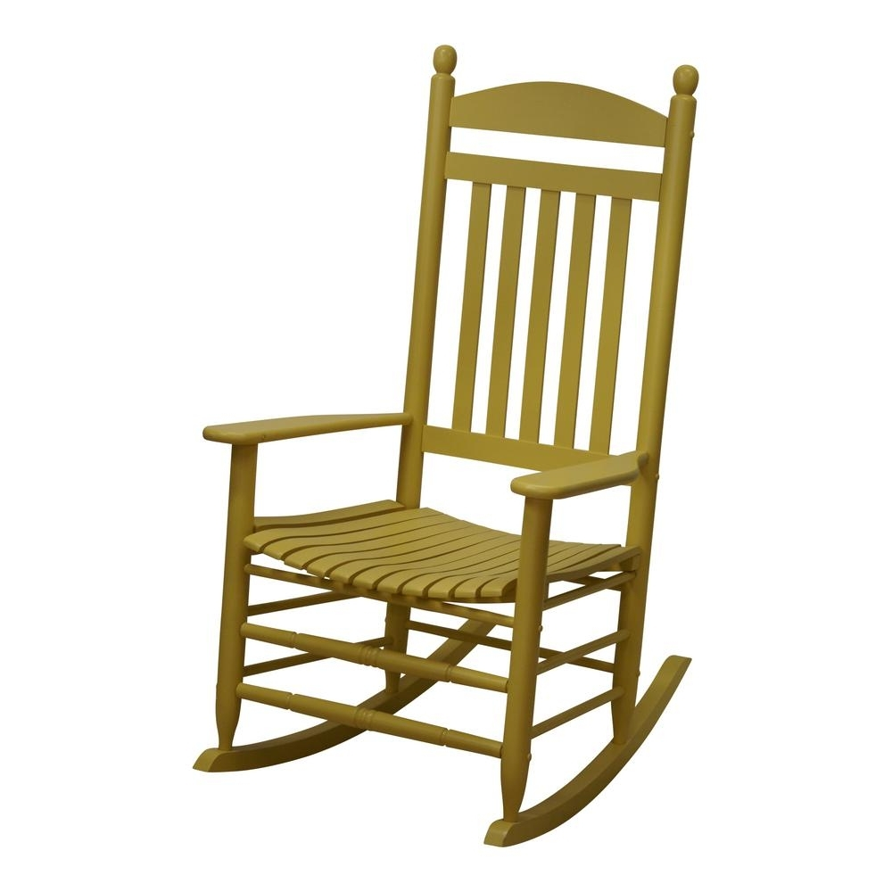 Yellow Outdoor Rocking Chairs Intended For 2019 Bradley Slat Cornbread Patio Rocking Chair Corn Rta The Home Chairs (Gallery 13 of 20)