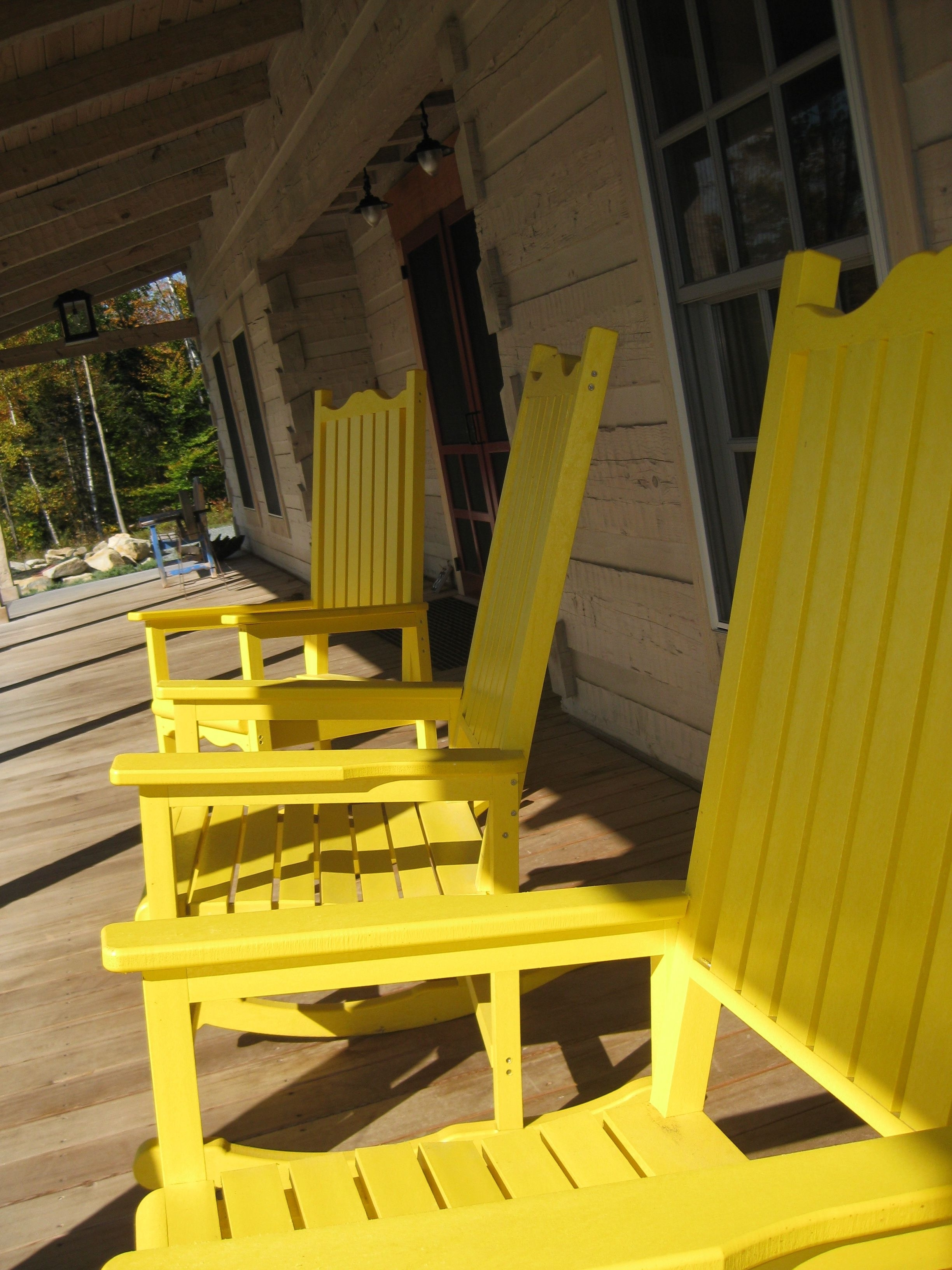 Best 20 Of Yellow Outdoor Rocking Chairs