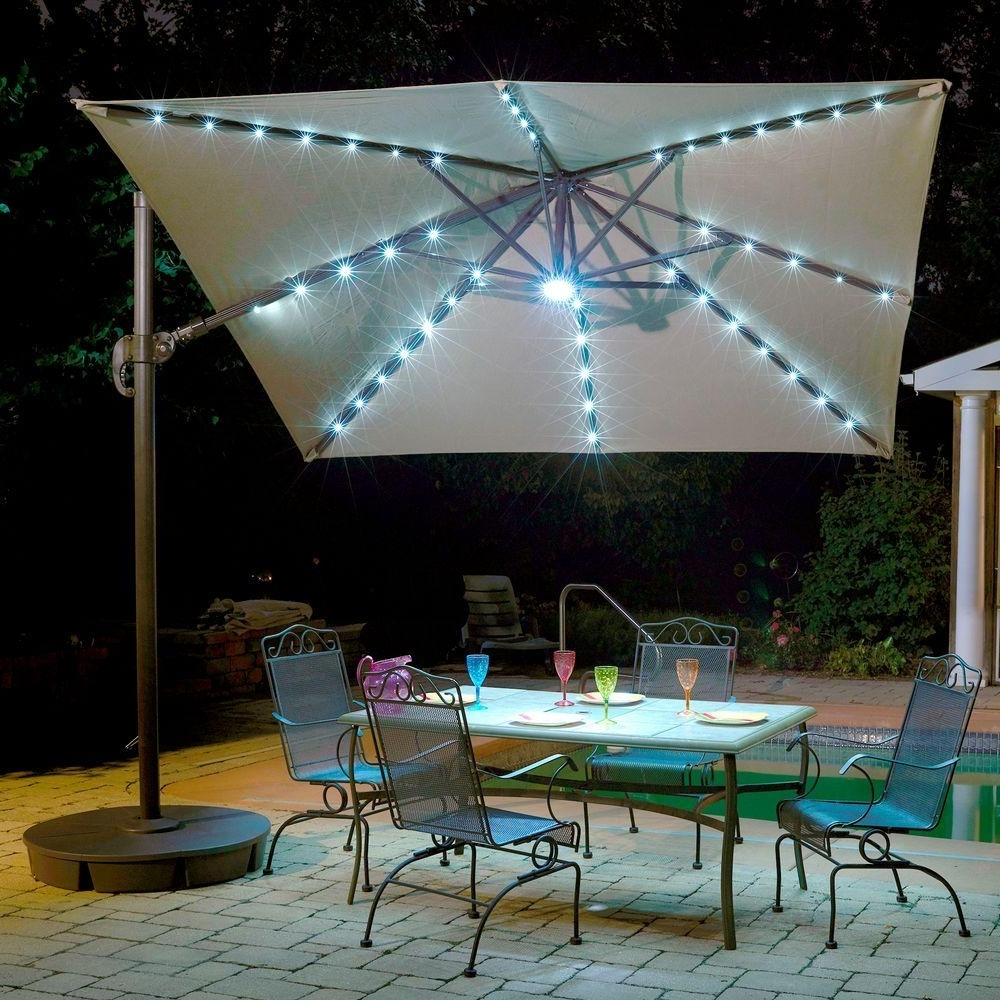 10 Ft Patio Umbrellas With Most Up To Date Island Umbrella Santorini Ii Fiesta 10 Ft. Square Cantilever Patio (Gallery 2 of 20)