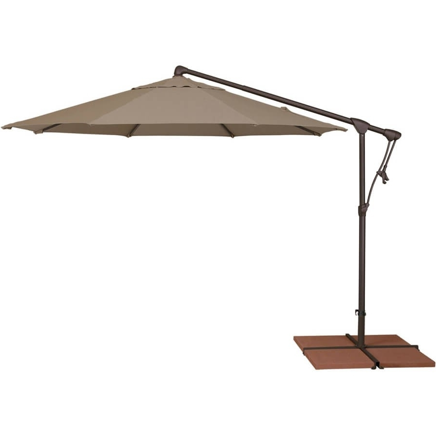 10' Octagon Cantilever Patio Umbrella Pertaining To Trendy Krevco Patio Umbrellas (Gallery 7 of 20)