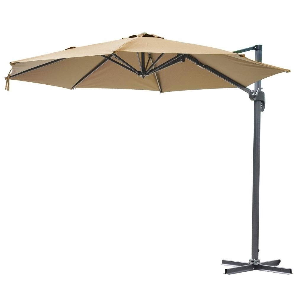 10Ft Hanging Offset Roma Outdoor Patio Umbrella Uv30 W/ Crank Pedal Within Famous Yescom Patio Umbrellas (Gallery 15 of 20)