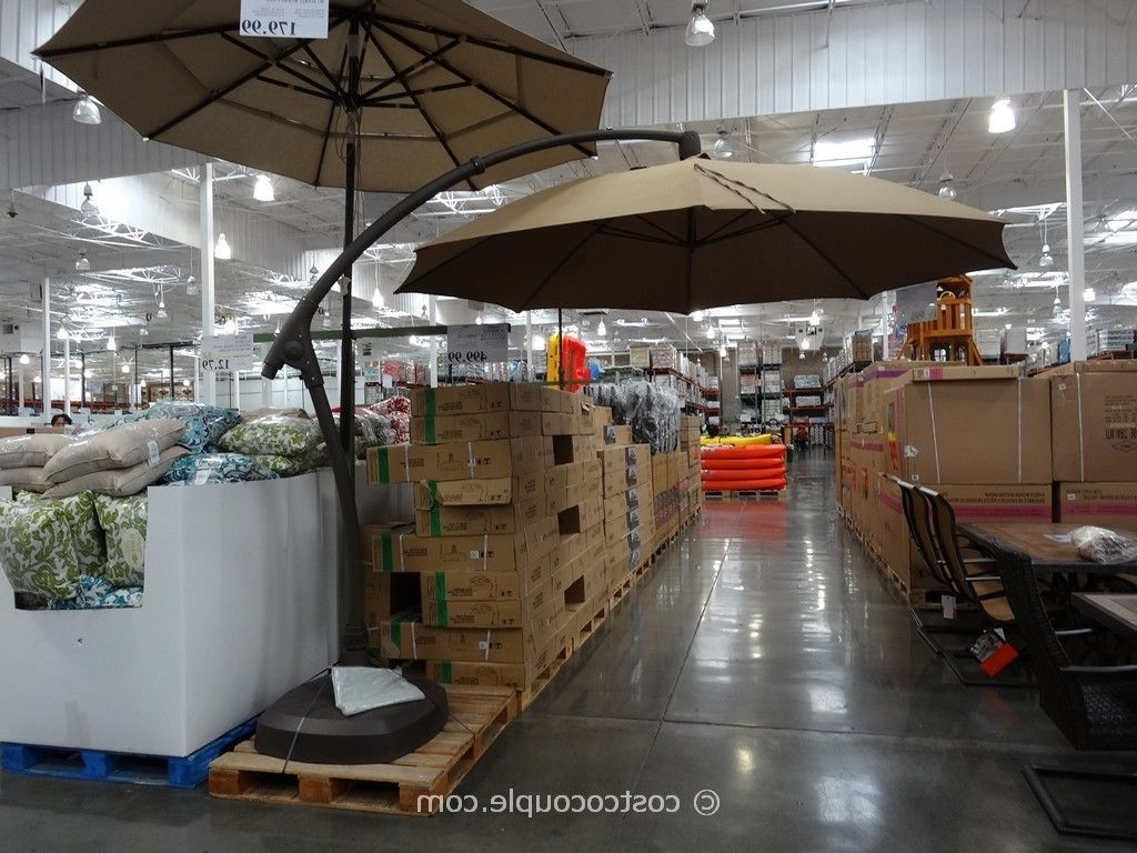 11 Foot Parisol Cantilever Umbrella Costco (Gallery 1 of 20)