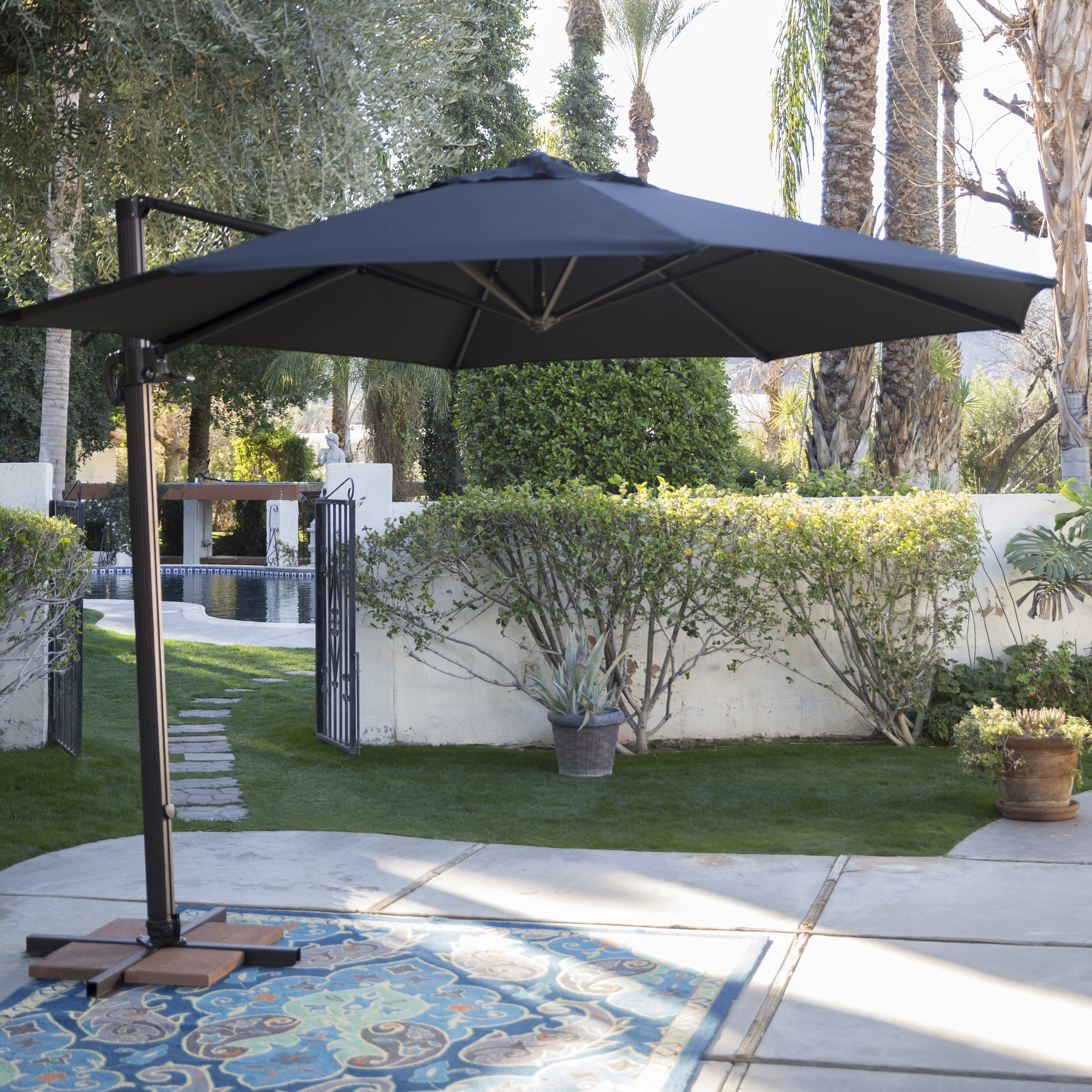 11 Ft. Sunbrella Patio Umbrellas With Regard To Newest Coral Coast 11 Ft (View 6 of 20)