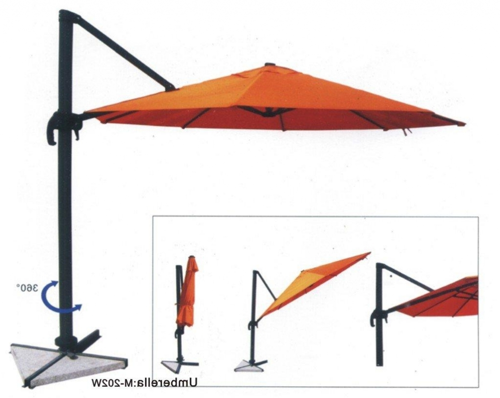 2018 Cbbb Free Standing Patio Umbrella With Stand Half And Base Pertaining To Free Standing Patio Umbrellas (View 1 of 20)