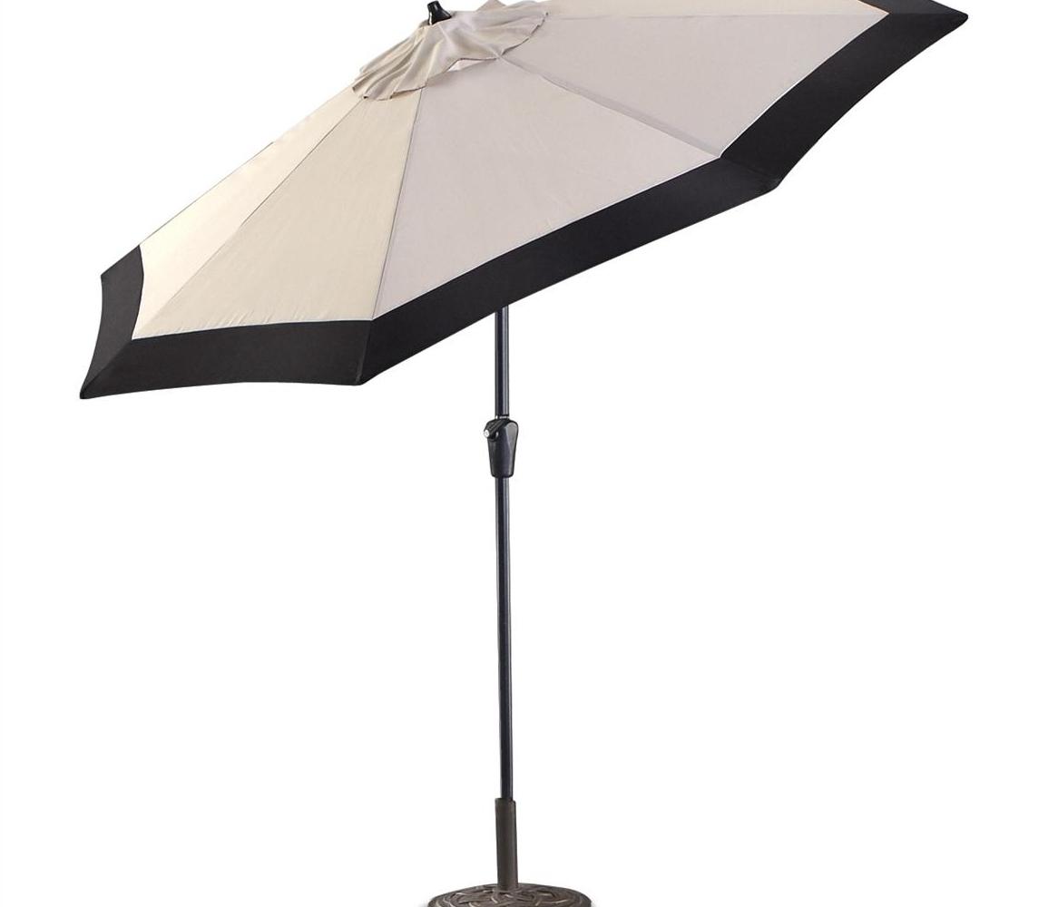 2018 Dazzling Obravia Cantilever Octagon Offset Patio Umbrella Patio In Black Patio Umbrellas (Gallery 16 of 20)
