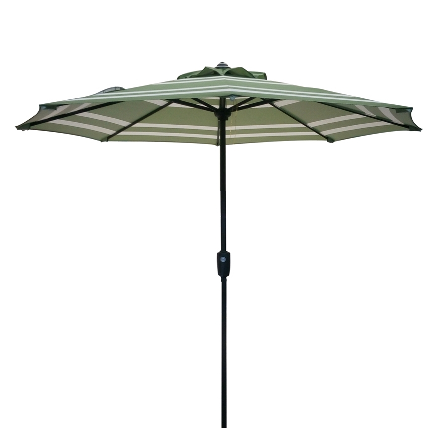 2018 Garden Treasures Patio Umbrellas Regarding Shop Garden Treasures Market Patio Umbrella (common: 7.5 Ft W X (View 11 of 20)