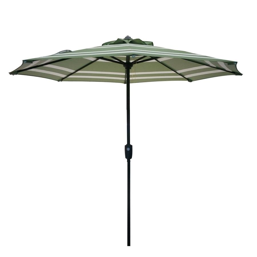 2018 Garden Treasures Patio Umbrellas Regarding Shop Garden Treasures Market Patio Umbrella (Common: 7.5 Ft W X 7.5 (Gallery 11 of 20)