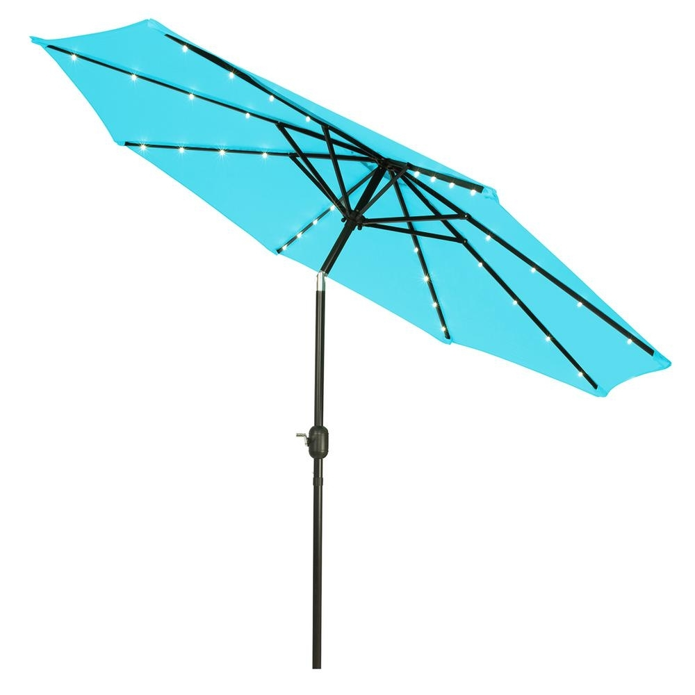 2018 Lighted Patio Umbrellas Inside Trademark Innovations 9 Ft. Deluxe Solar Powered Led Lighted Patio (Gallery 18 of 20)