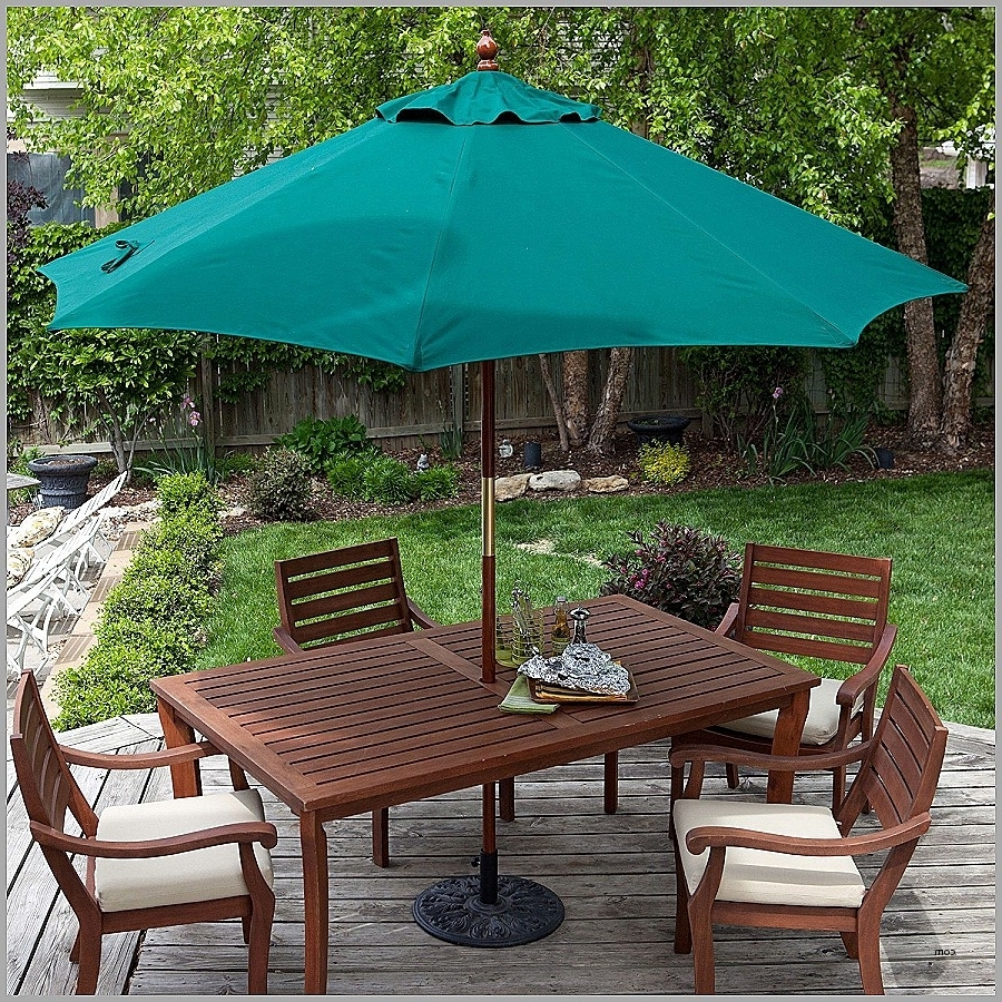 2018 Patio Post Lights. Lovely 11 Foot Lighted Patio Umbrella: 11 Foot Regarding Lighted Patio Umbrellas (Gallery 19 of 20)