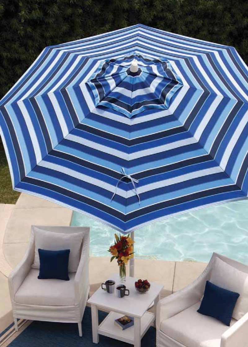2018 Striped Sunbrella Patio Umbrellas Pertaining To 93 Striped Patio Umbrellas, Best Outdoor Patio Umbrellas: A Twist On (View 1 of 20)