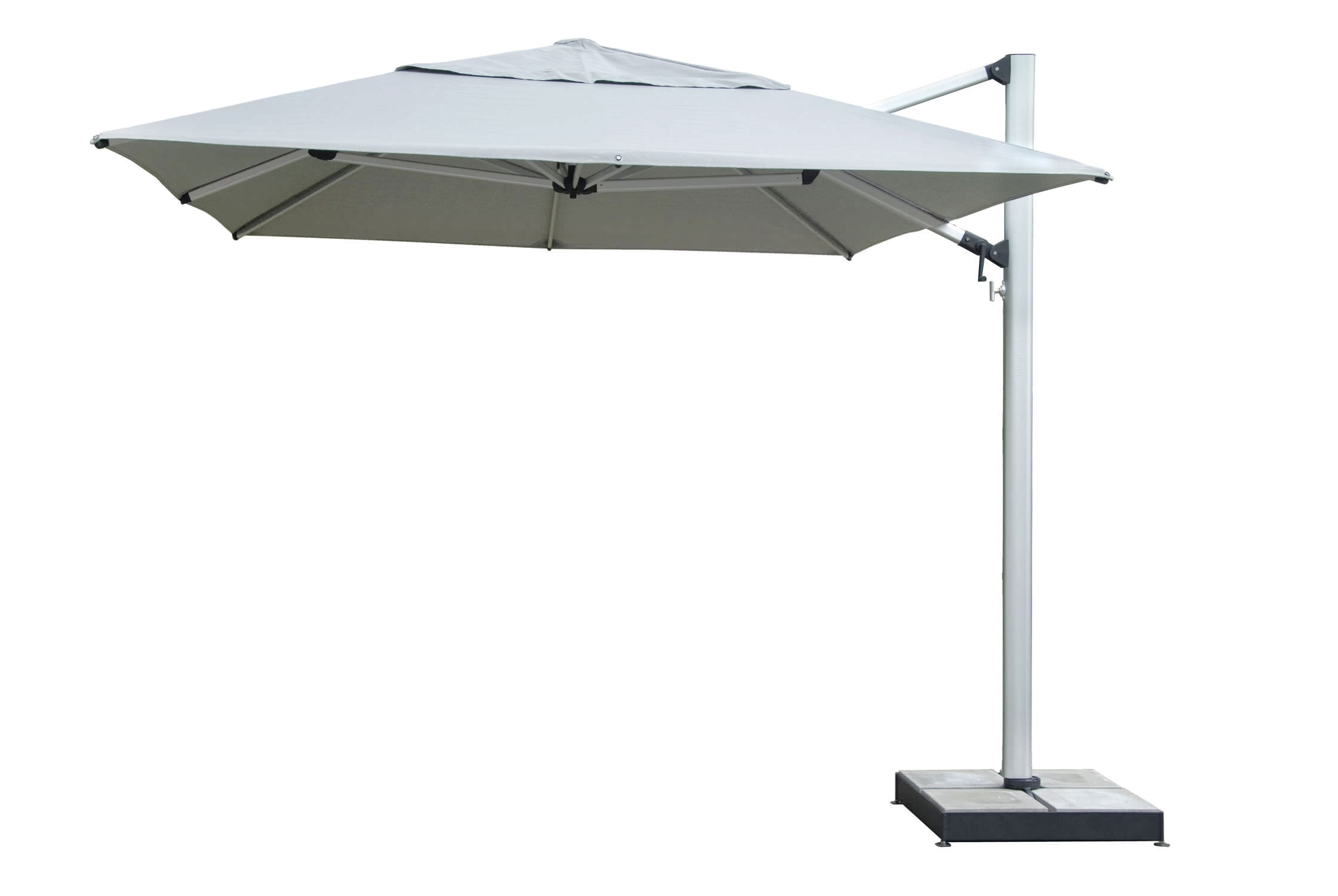 2018 White Patio Umbrellas Within Furniture: Stainless Steel Patio Umbrella Patio Furniture And (View 1 of 20)