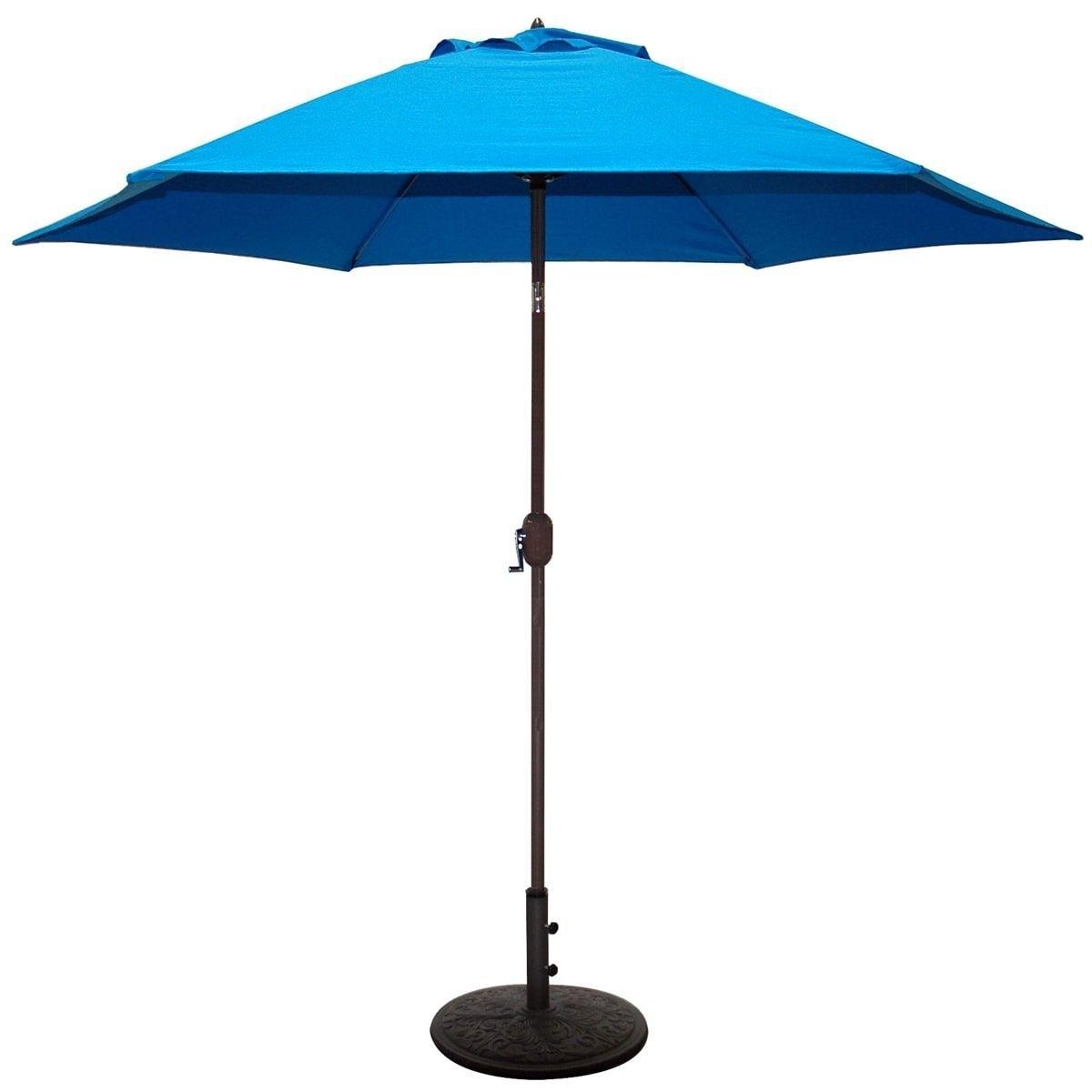 2019 Blue Patio Umbrellas Pertaining To Tropishade 9 Ft (View 9 of 20)