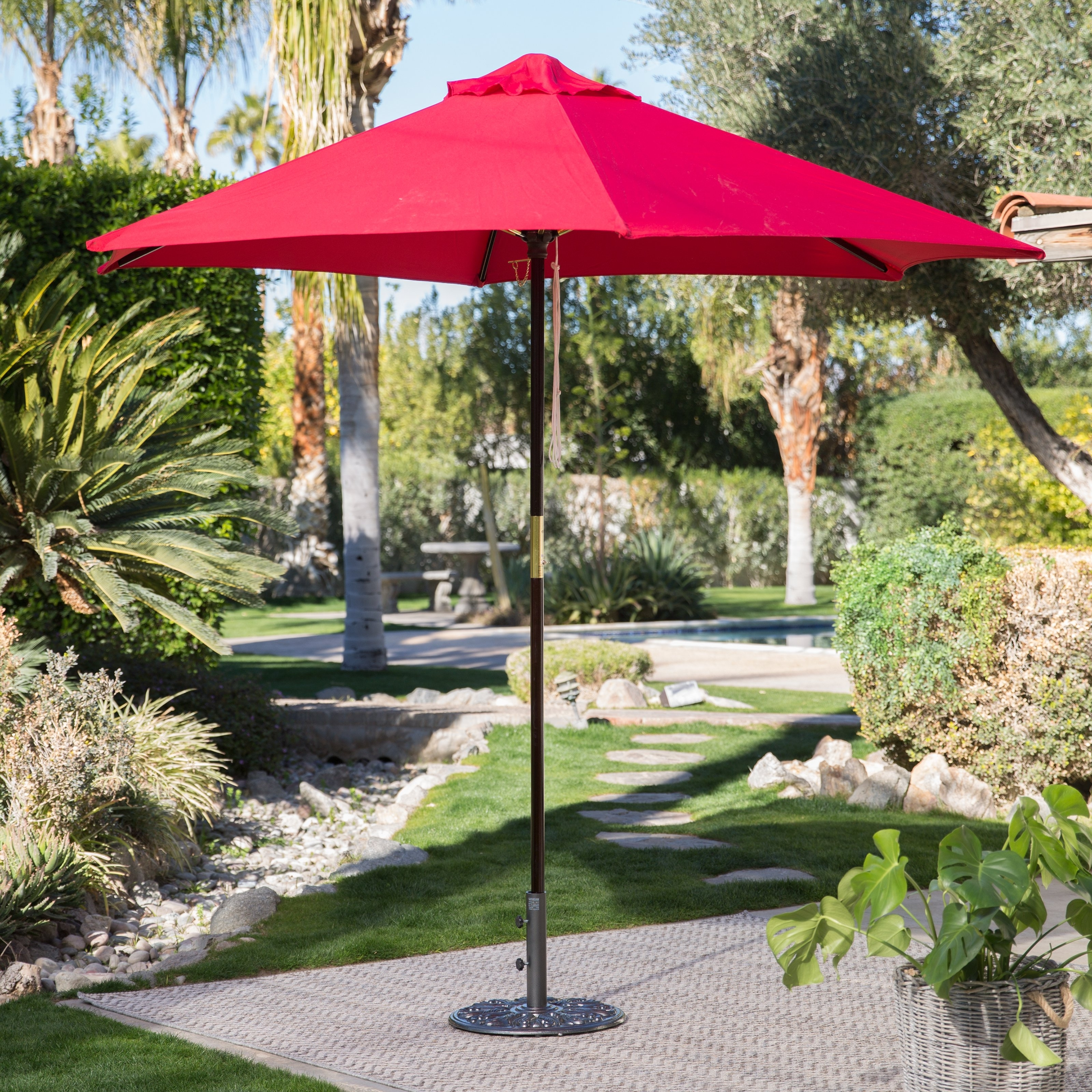 2019 European Patio Umbrellas With Regard To Coral Coast 40 Lb. European Patio Umbrella Stand (Gallery 15 of 20)