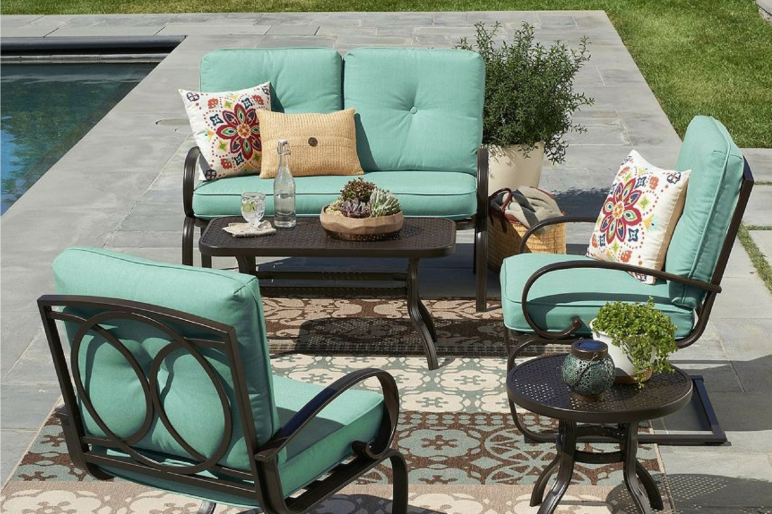 2019 Kohls Patio Umbrellas Throughout Kohl's Is Having A Huge Sale On Patio Furniture Right Now – Dwym (View 1 of 20)
