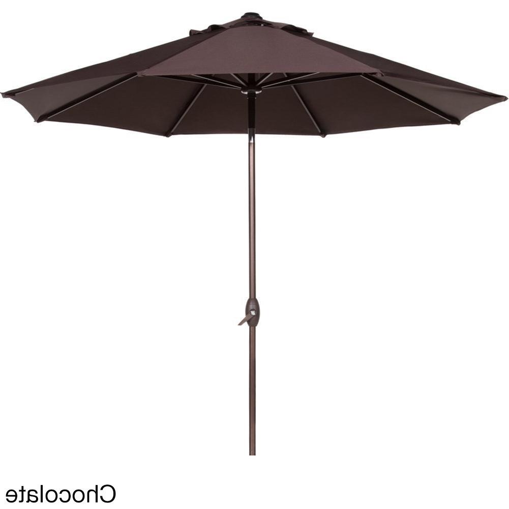2019 Tilting Patio Umbrellas With Shop Abba 9 Foot Auto Tilt And Crank Aluminum Patio Umbrella – Free (View 1 of 20)