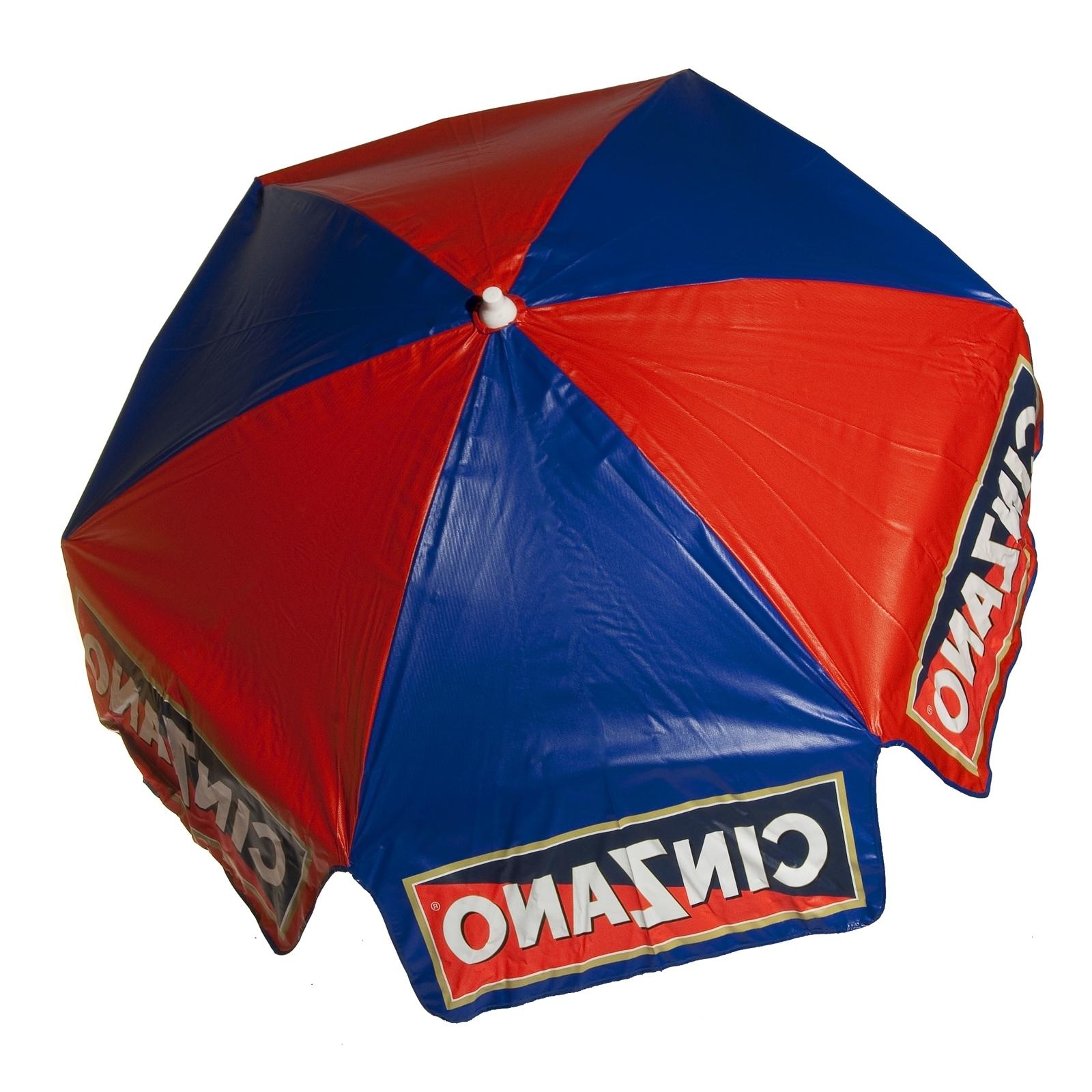 6 Foot Push Tilt Cinzano Vinyl Umbrella – Beach Pole Regarding Current Vinyl Patio Umbrellas (Gallery 19 of 20)