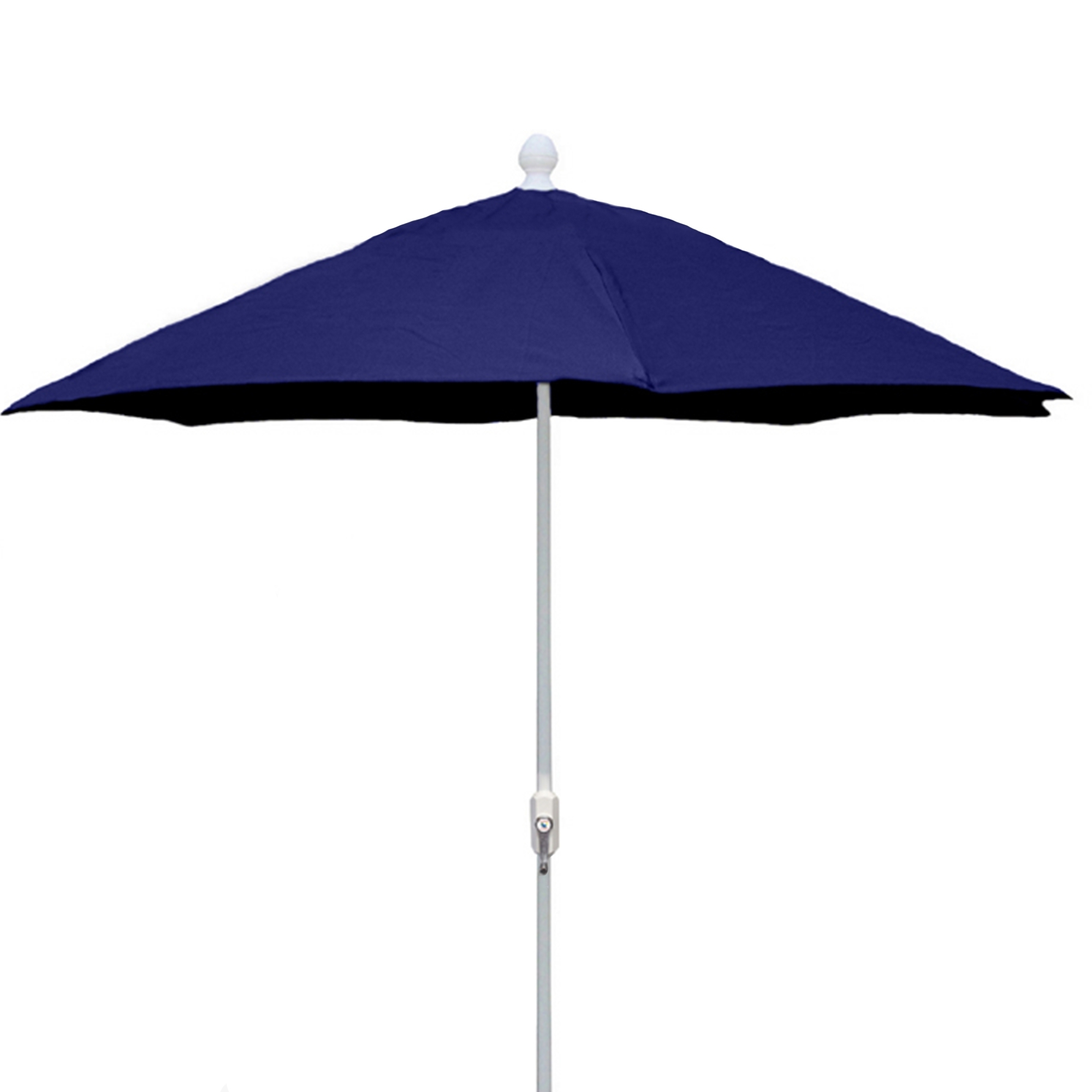 7.5 Ft Crank Lift Market Style Patio Umbrella With White Pole (Gallery 13 of 20)