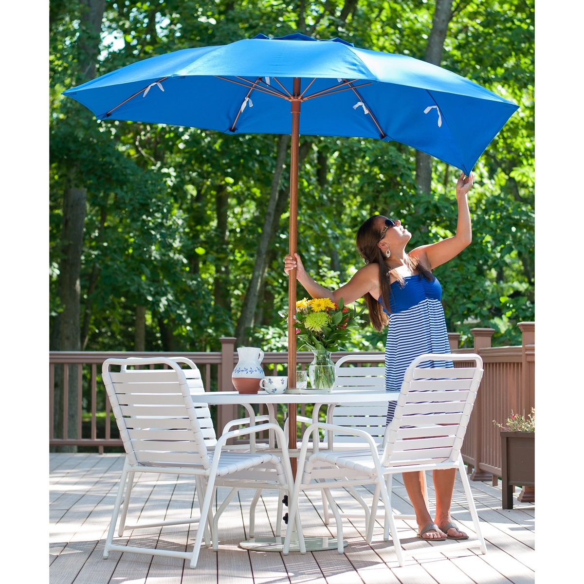 7.5 Ft Frankford Acrylic Fiberglass Vented Patio Umbrella No Valance Intended For Preferred Vented Patio Umbrellas (Gallery 12 of 20)