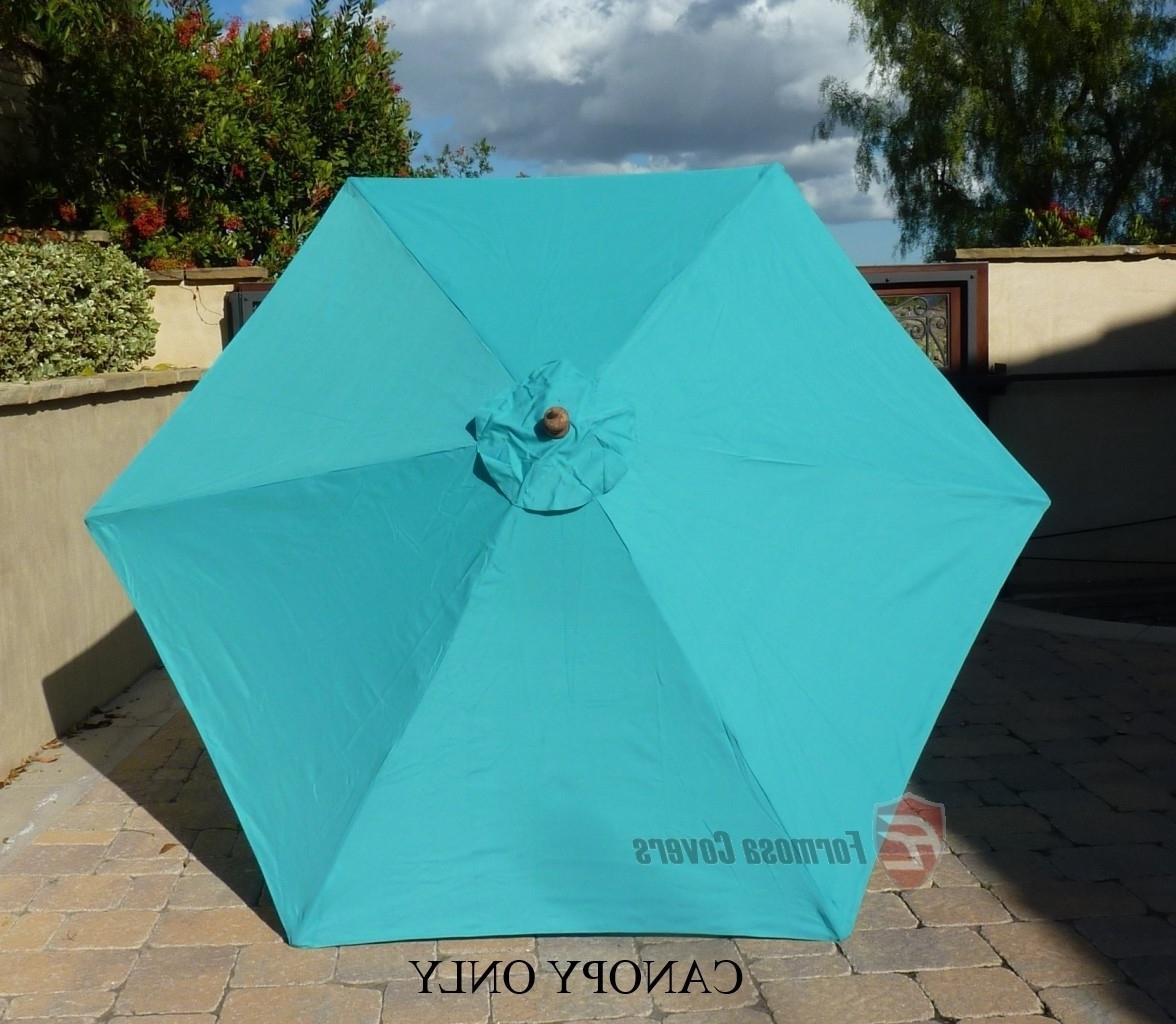 9Ft 6 Ribs – Replacement Umbrella Canopy – Patio Umbrella Regarding Recent 6 Ft Patio Umbrellas (View 7 of 20)