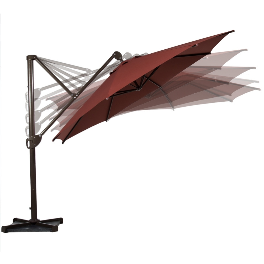 Abba Patio 11 Feet Octagon Offset Cantilever Patio Umbrella With In Best And Newest Offset Cantilever Patio Umbrellas (View 20 of 20)