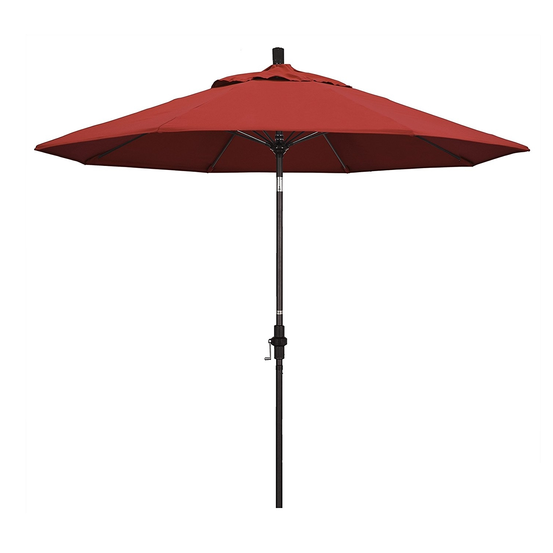 Amazon Patio Umbrellas Throughout Newest Outdoor & Garden: Amazon Com California Umbrella 9' Round Aluminum (View 17 of 20)