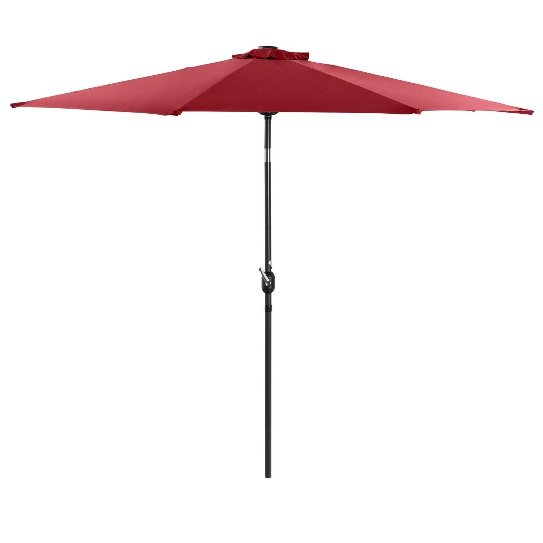 Best And Newest Crank Tilt Patio Umbrella New Amazon Phi Villa 10 Ft Solar Powered Throughout Amazon Patio Umbrellas (View 2 of 20)
