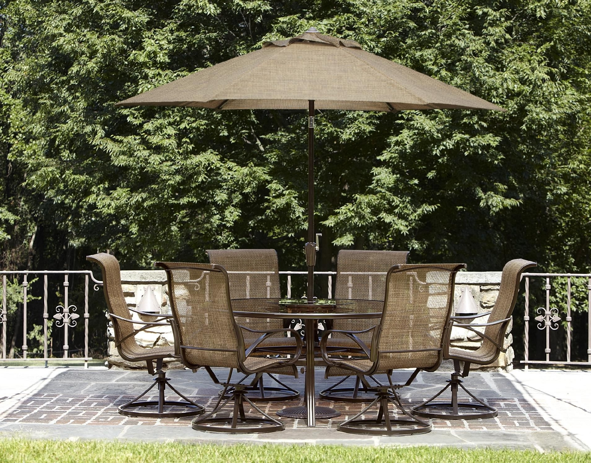 Best And Newest Garden: Enchanting Outdoor Patio Decor Ideas With Patio Umbrellas Throughout Cheap Patio Umbrellas (View 19 of 20)
