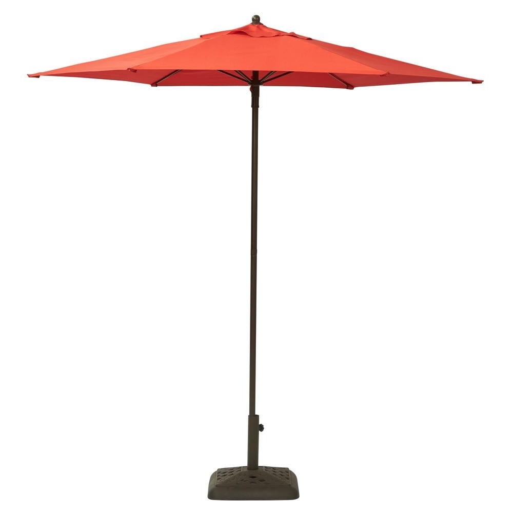 Best And Newest Home Depot Patio Umbrellas Pertaining To Hampton Bay 7 1/2 Ft (View 5 of 20)