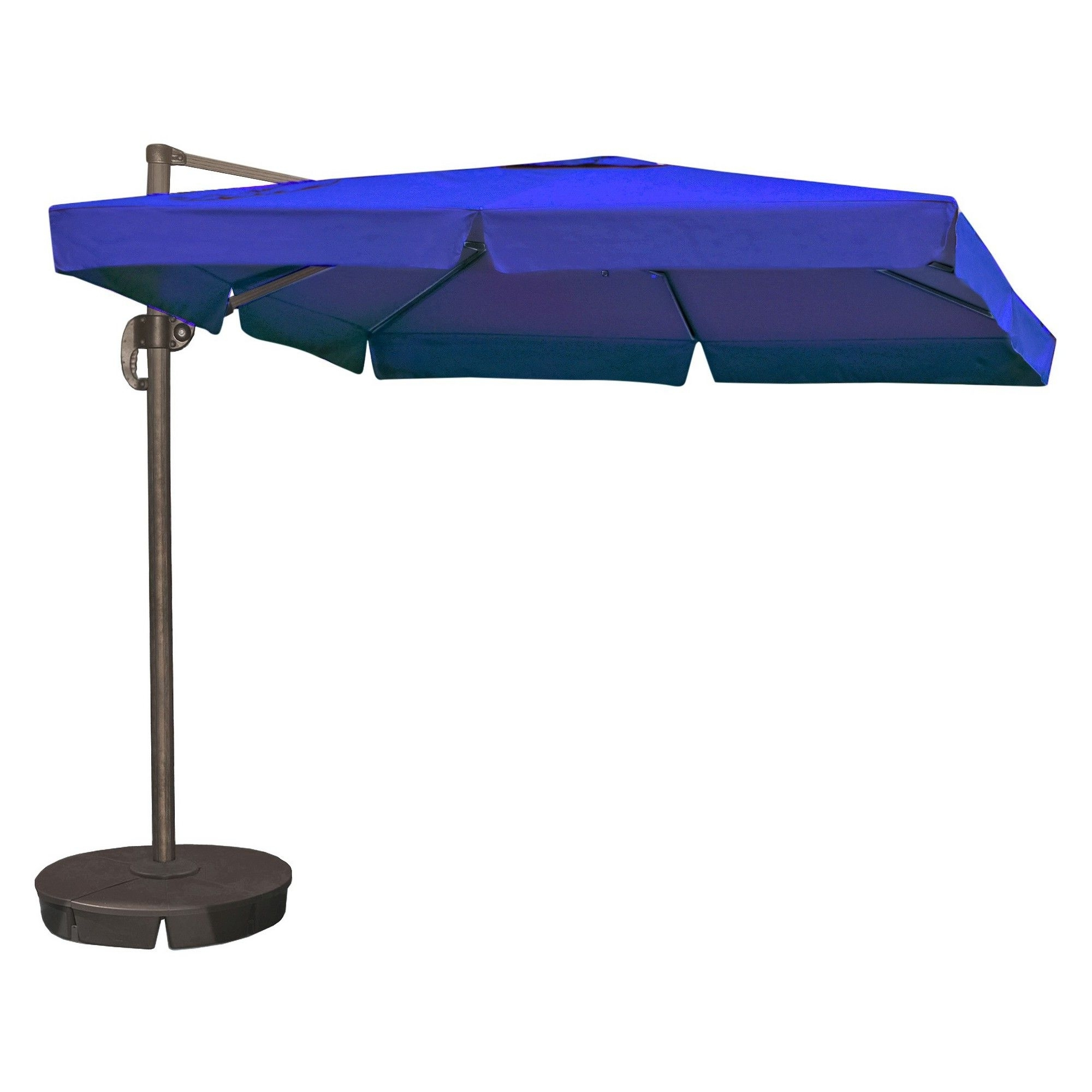 Best And Newest Patio Umbrellas With Valance Pertaining To Island Umbrella Santorini Ii 10' Square Cantilever Umbrella With (View 6 of 20)