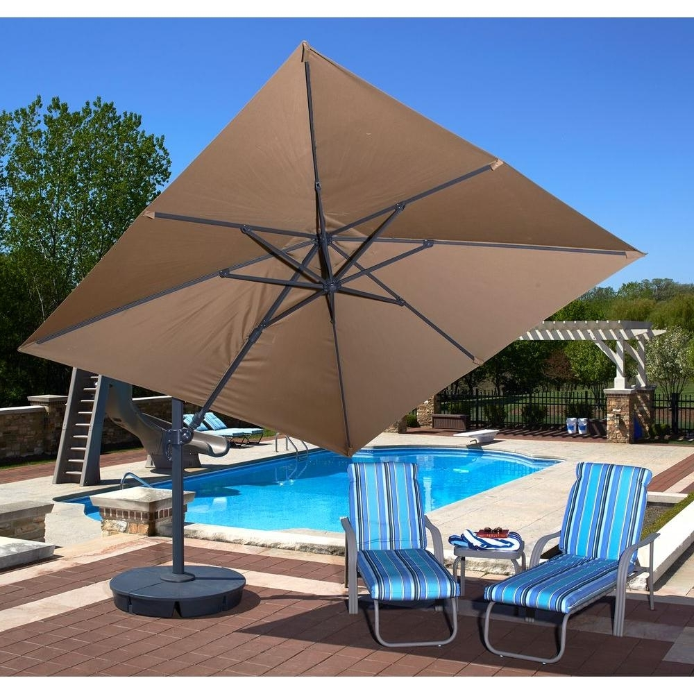 Best And Newest Square Sunbrella Patio Umbrellas Pertaining To Cantilever Patio Umbrella Sunbrella (View 2 of 20)
