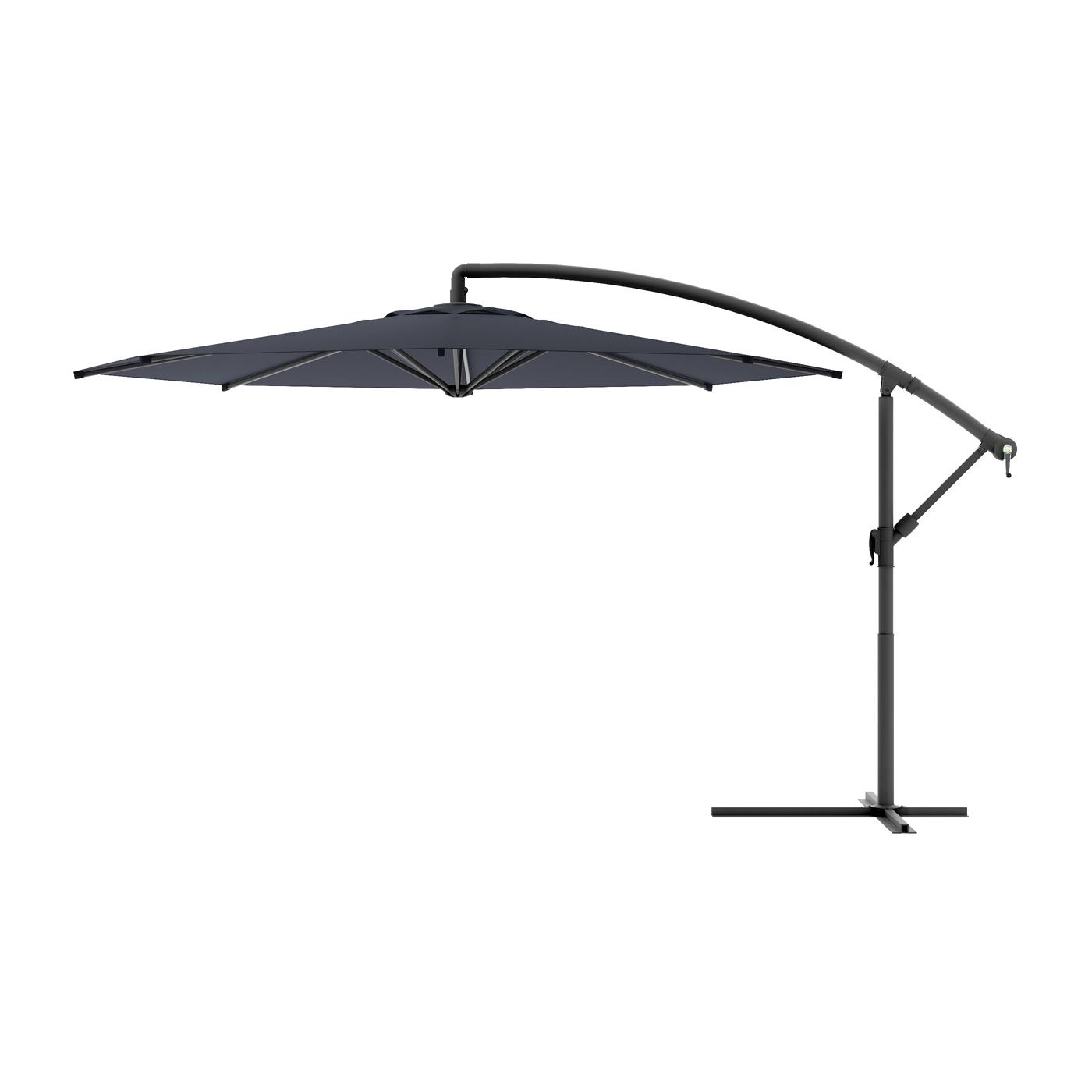 Black And White Patio Umbrellas Regarding Newest Corliving Ppu 4 Cantilever Patio Umbrella (View 5 of 20)