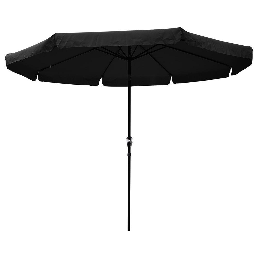 Black And White Patio Umbrellas With Current Yescomusa: 10' Aluminum Outdoor Patio Umbrella W/ Valance Crank Tilt (View 7 of 20)
