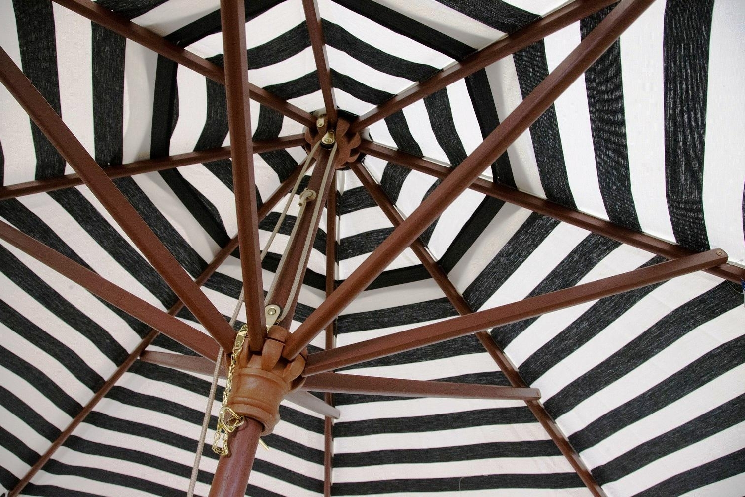 Black And White Striped Patio Umbrellas In 2019 Black And White Striped Outdoor Patio Umbrella — The Mebrureoral (View 3 of 20)