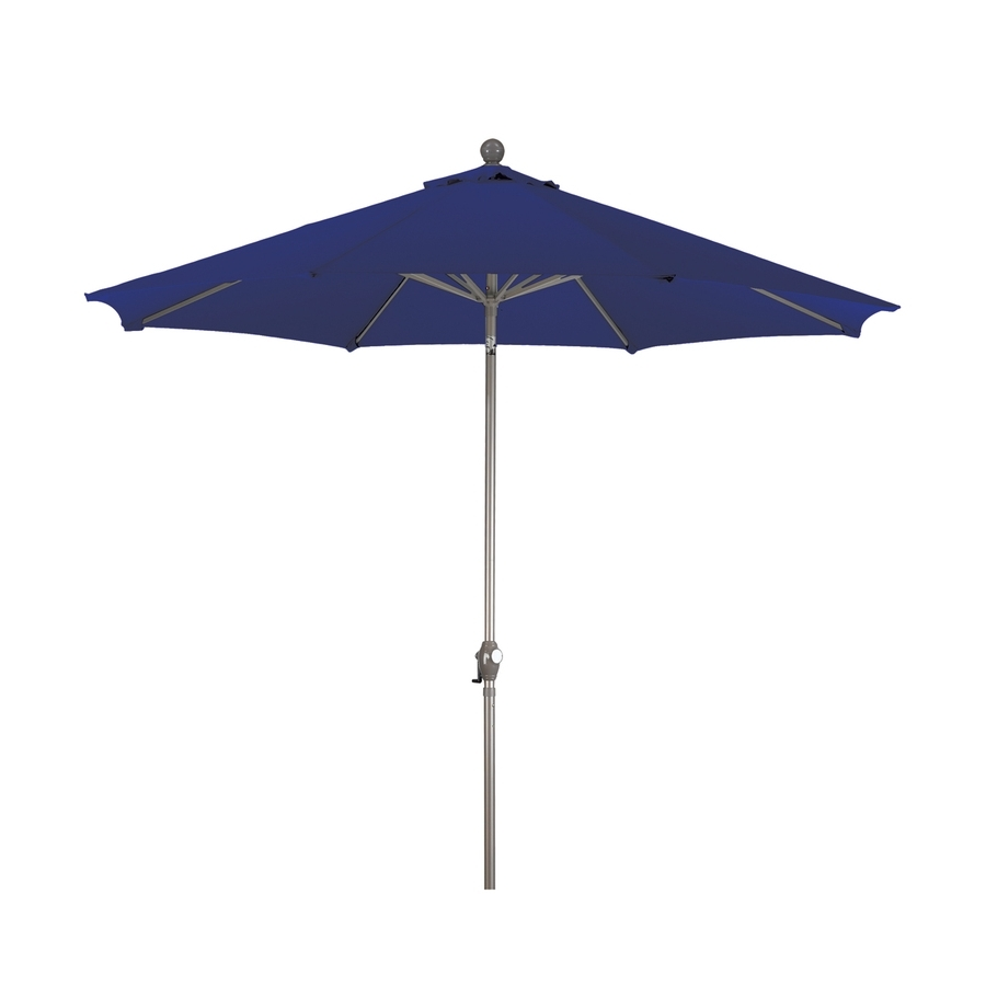 Blue Patio Umbrellas For Most Current Shop Phat Tommy Navy Blue Market 9 Ft Patio Umbrella At Lowes (View 2 of 20)