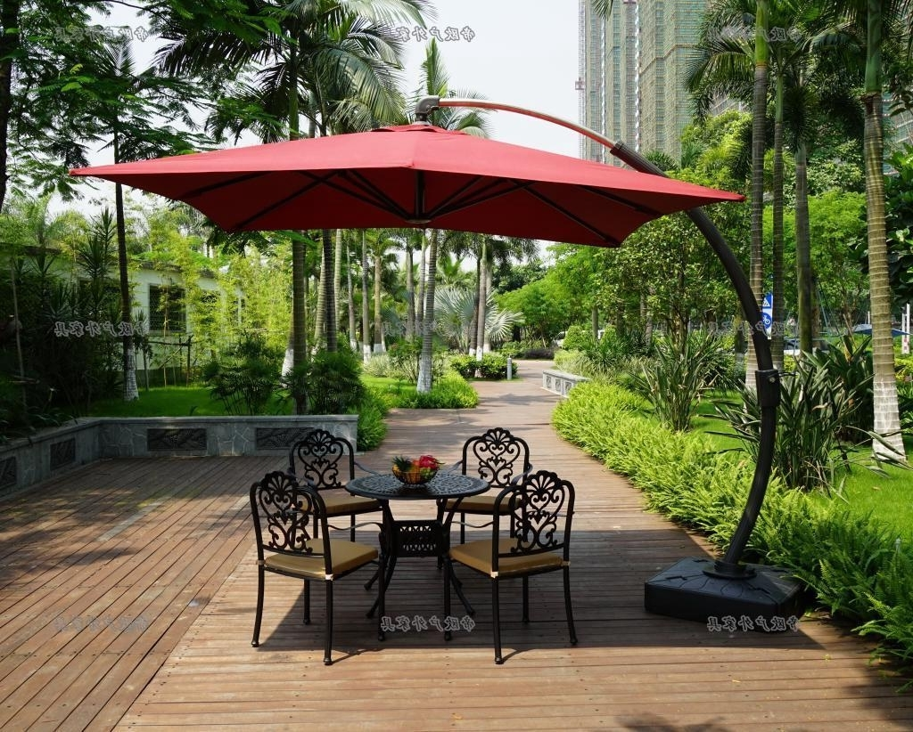 Brilliant Offset Patio Umbrella Base Patio Offset Umbrella Ashery Inside Most Up To Date Offset Patio Umbrellas With Base (View 4 of 20)
