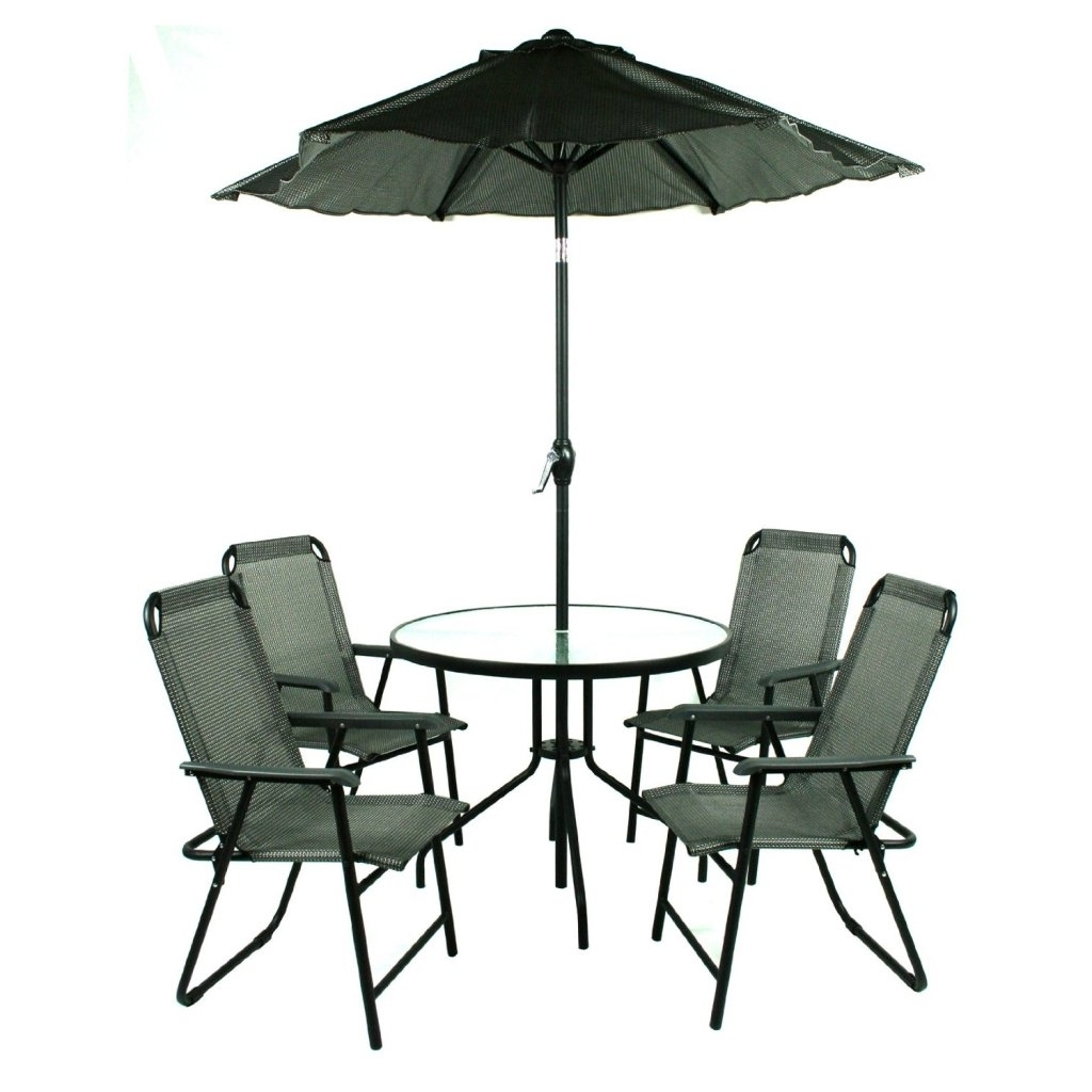 Brilliant Patio Furniture Sets With Umbrella Patio Table And Chairs Pertaining To Famous Patio Table Sets With Umbrellas (View 3 of 20)