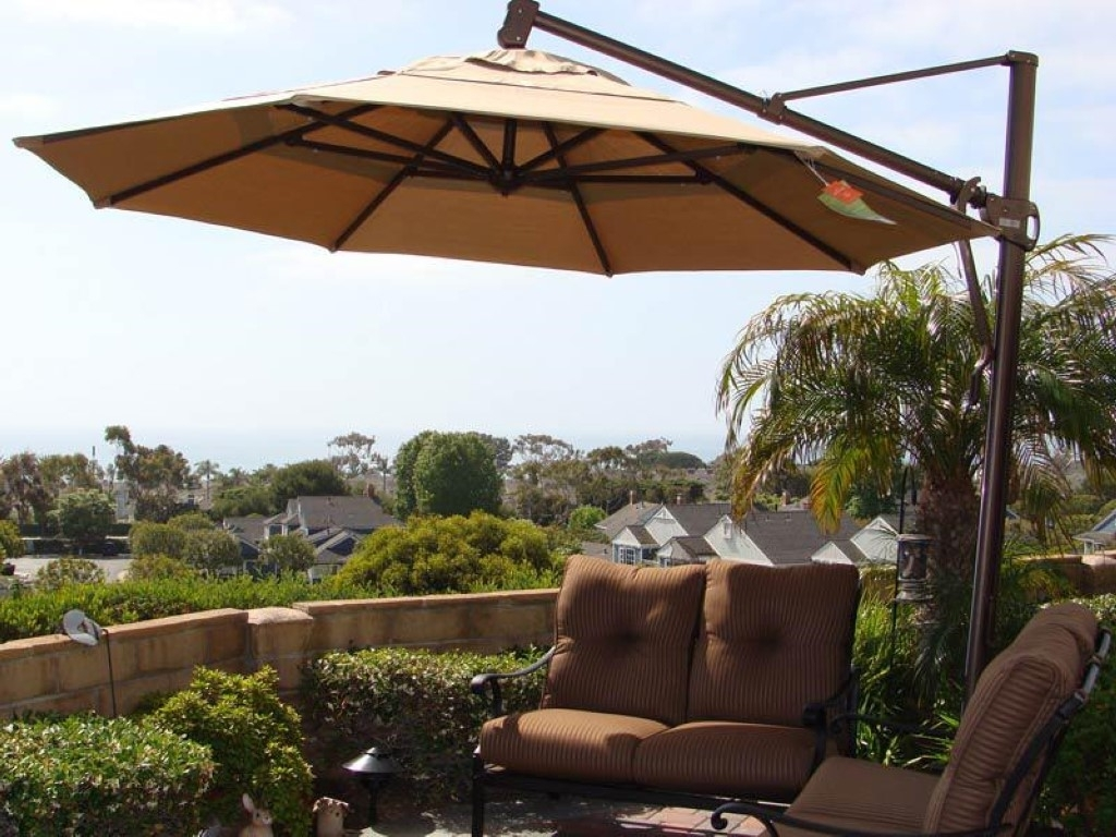 Cantilever Patio Umbrellas 100 Large Outdoor Umbrellas, Oversized In Famous Oversized Patio Umbrellas (View 3 of 20)