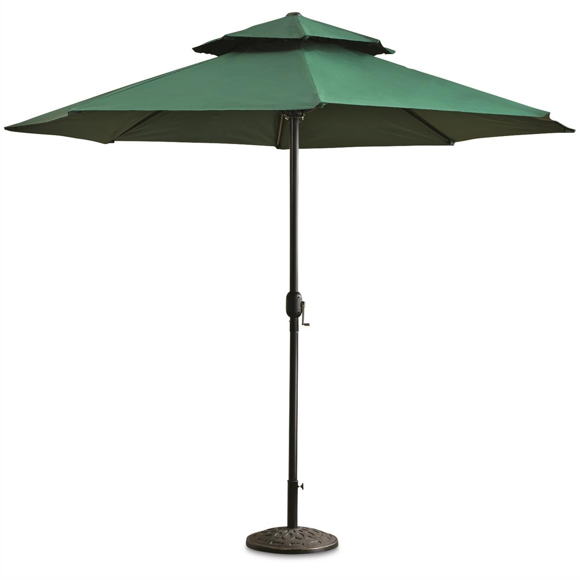 Castlecreek 10' Double Layer Patio Umbrella – 678520, Patio Pertaining To Fashionable Green Patio Umbrellas (View 5 of 20)