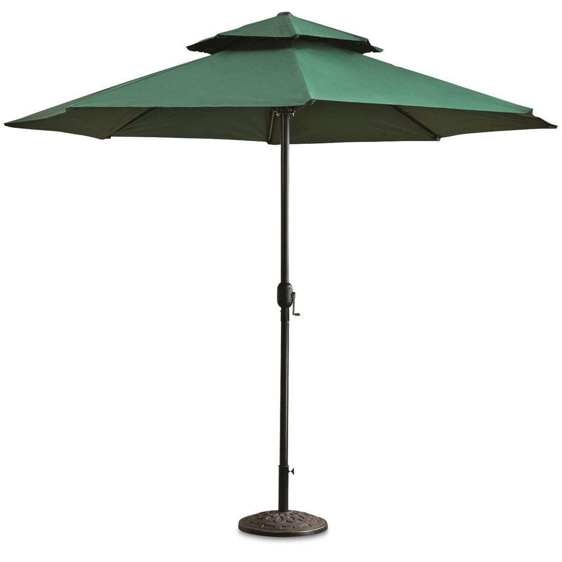 Castlecreek 10' Double Layer Patio Umbrella – 678520, Patio Pertaining To Fashionable Green Patio Umbrellas (View 3 of 20)