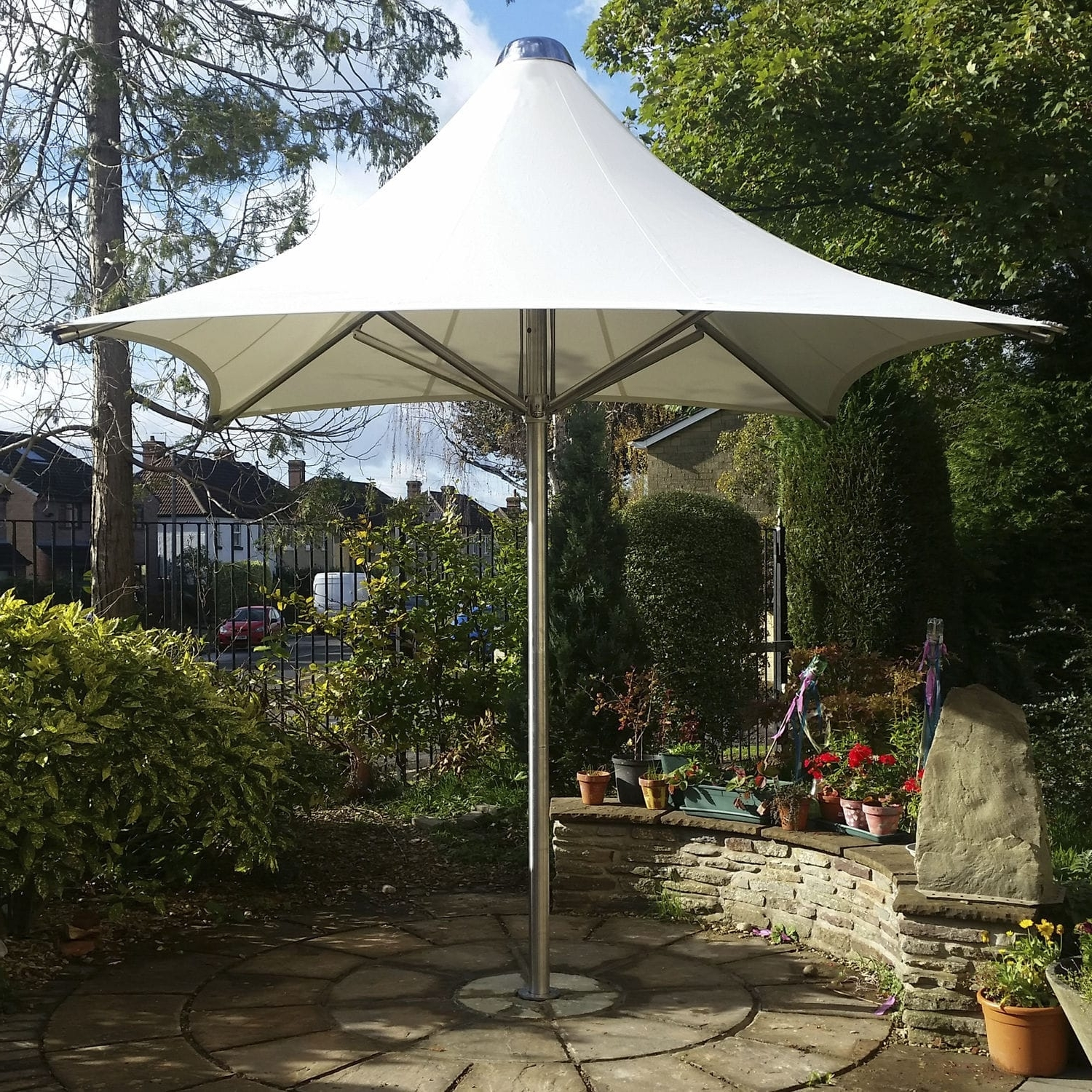 Commercial Patio Umbrella / Stainless Steel / Pvc / Wind Resistant In Recent Wind Resistant Patio Umbrellas (View 6 of 20)