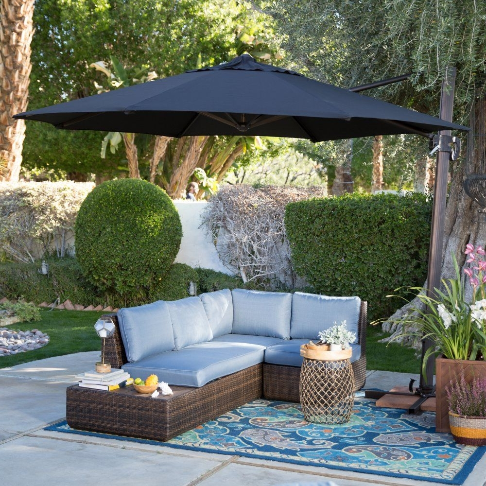 Coral Coast Offset Patio Umbrellas With Regard To Most Current Coral Coast 11 Ft (View 16 of 20)