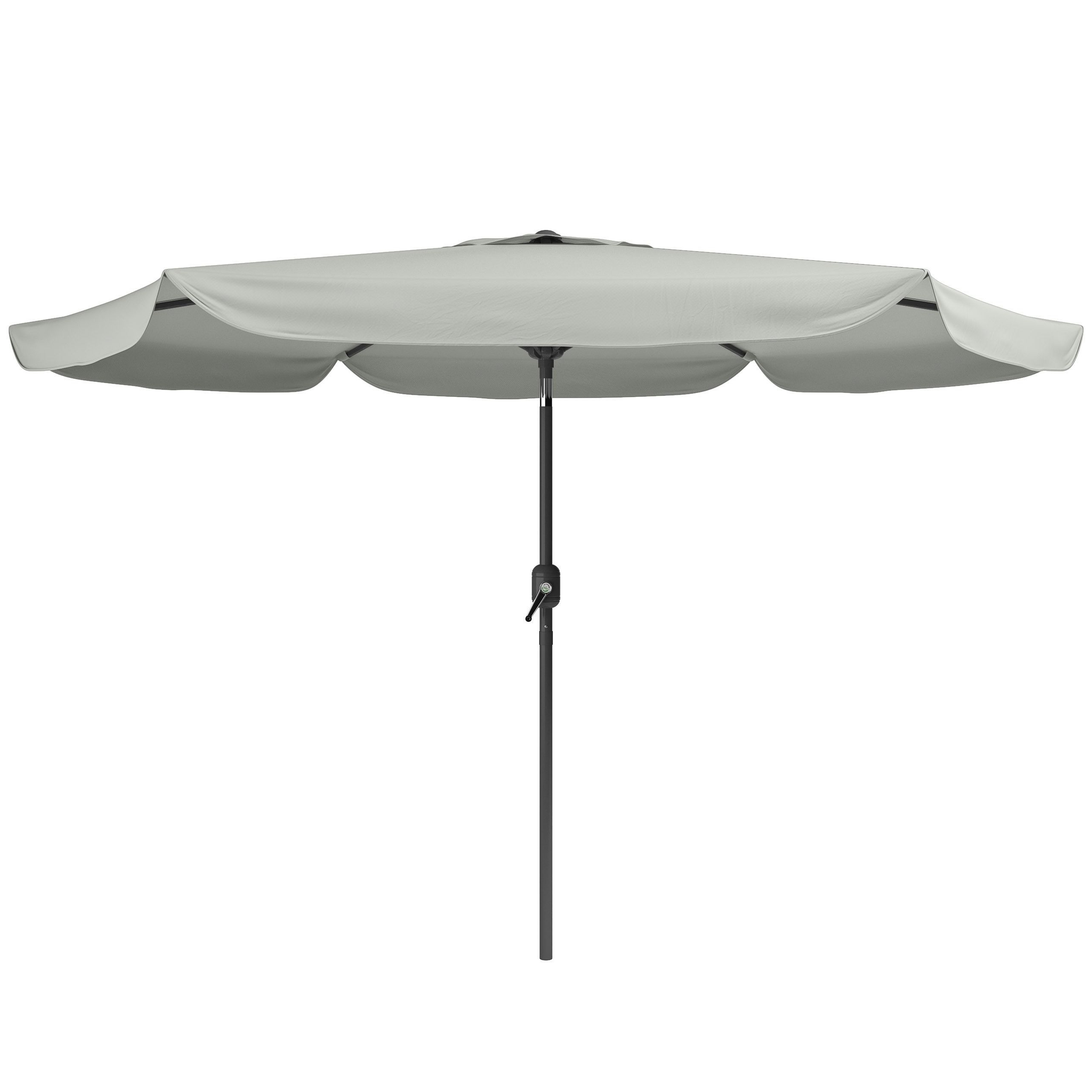 Corliving Tilting Patio Umbrella (sand Grey), Size (View 13 of 20)