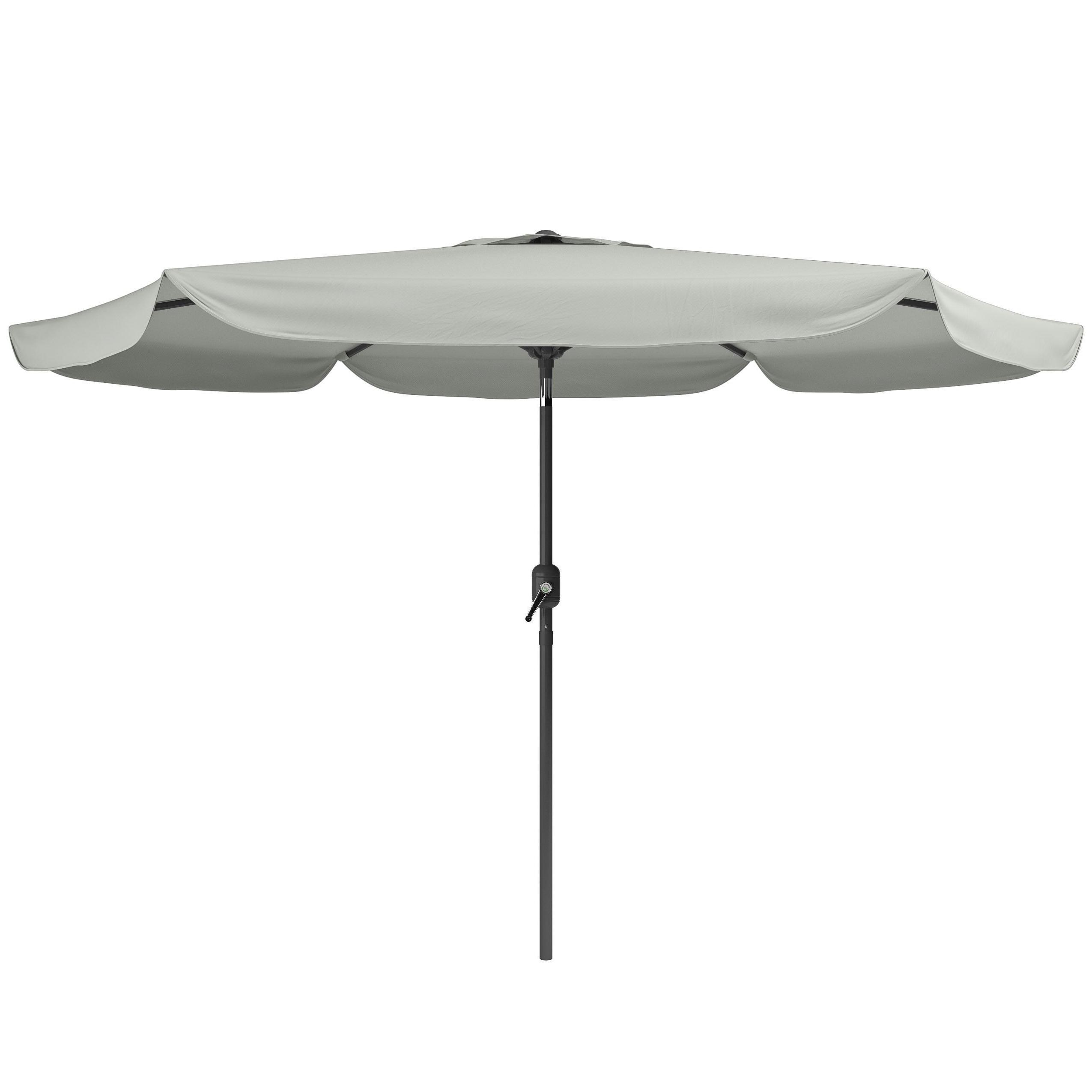 Corliving Tilting Patio Umbrella (Sand Grey), Size  (View 2 of 20)