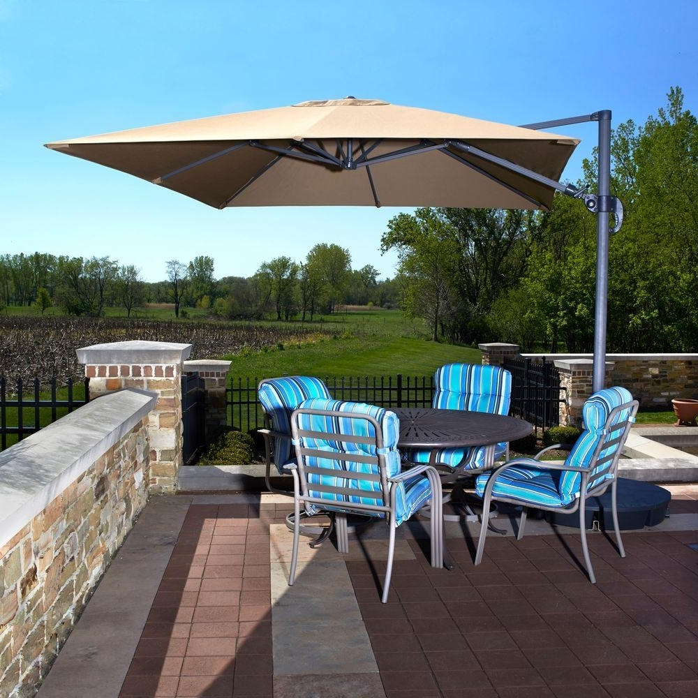 Costco Cantilever Patio Umbrellas Pertaining To Most Current Furniture: Costco Cantilever Umbrella For Most Dramatic Shade (View 4 of 20)