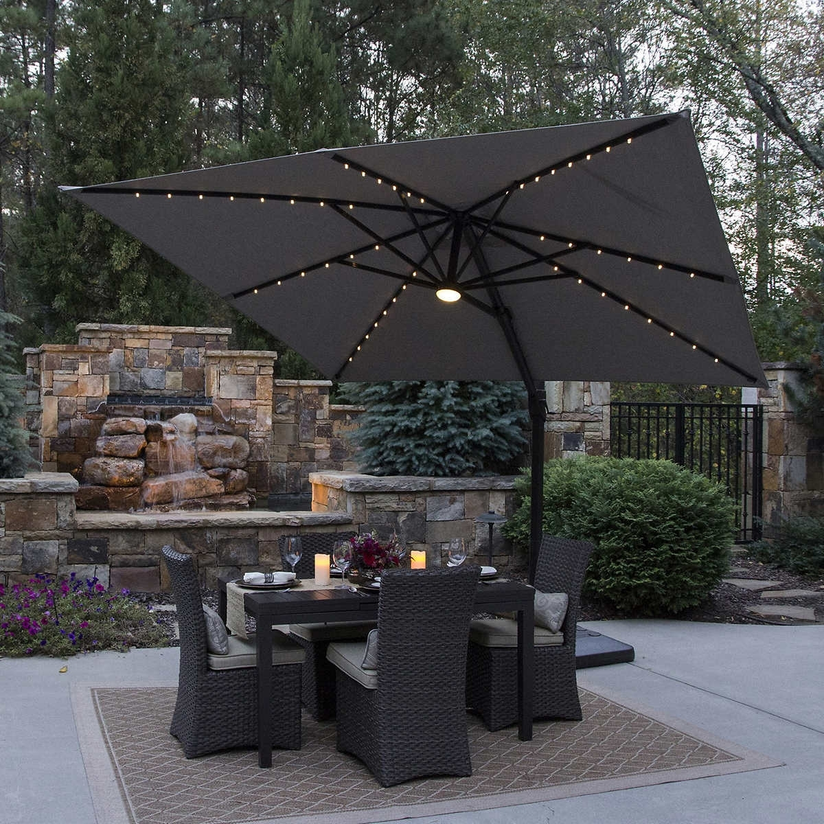 Costco Patio Umbrellas Regarding Fashionable Dark Costco Patio Umbrella : Acvap Homes – Cleaning Costco Patio (View 5 of 20)