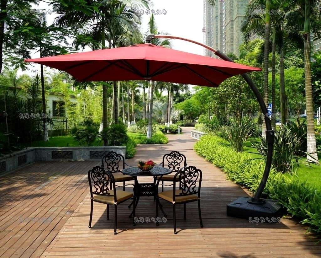 Costco Patio Umbrellas With Best And Newest Outstanding Bamboo Cantilever Umbrella Patio Umbrellas Costco (View 7 of 20)