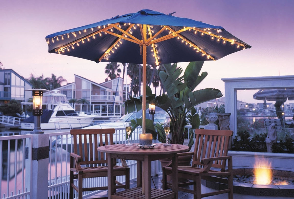 Creative Of Patio Umbrellas With Lights Patio Umbrella Lights Ashery With Popular Patio Umbrellas With Lights (View 6 of 20)