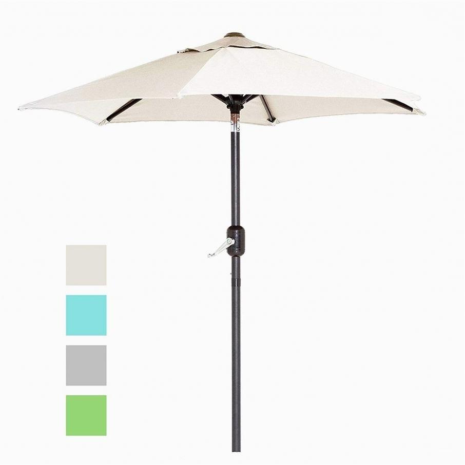 Current Fair Amazon 6 Ft Outdoor Patio Umbrella With Aluminum Pole Easy With Pertaining To Amazon Patio Umbrellas (View 11 of 20)