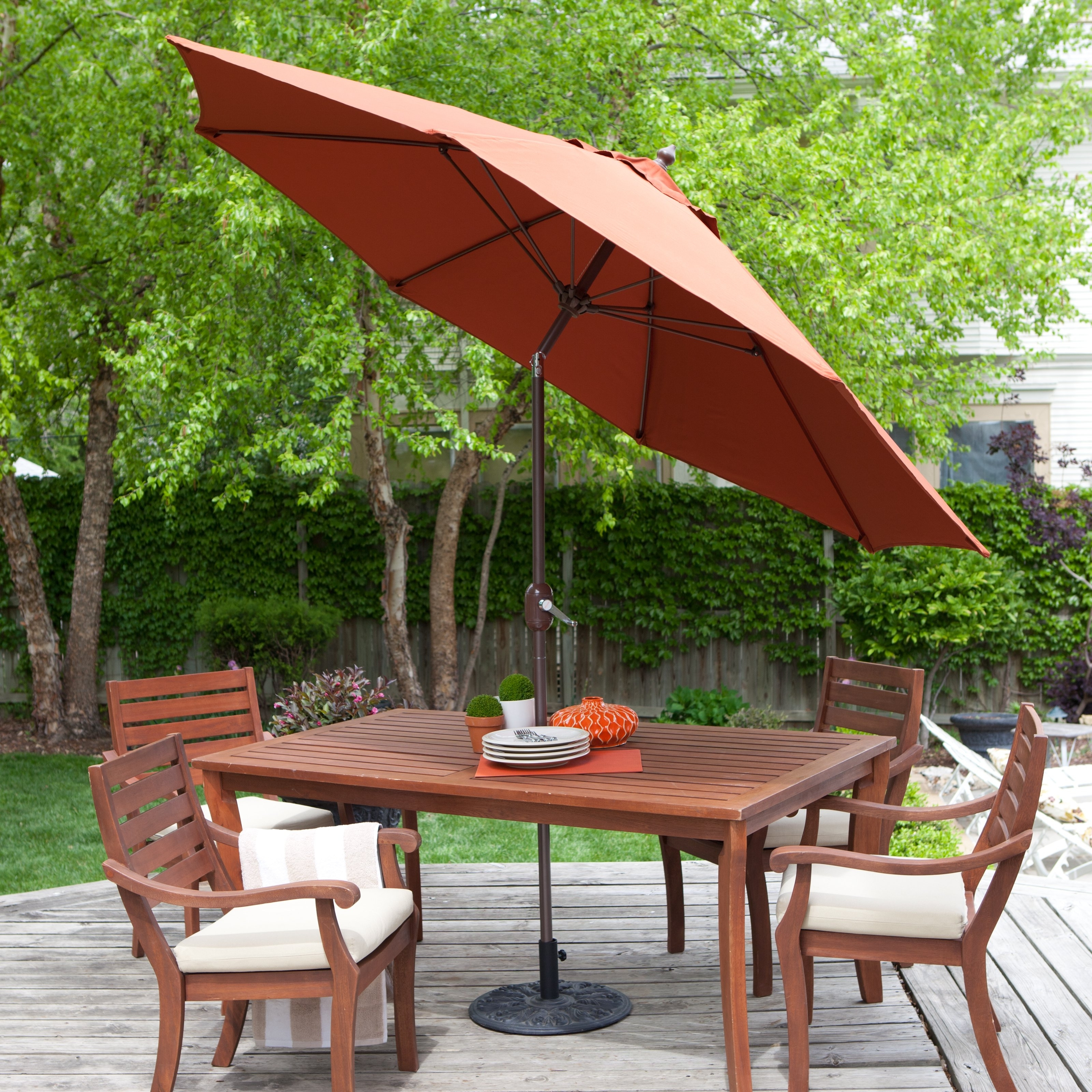 Current Galtech Sunbrella 11 Ft. Maximum Shade Deluxe Aluminum Auto Tilt With Patio Umbrellas With Sunbrella Fabric (Gallery 14 of 20)